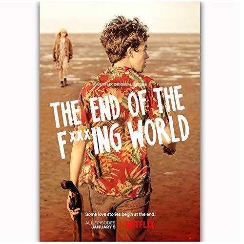 The End of the Fing World Netflix Serie de TV ShowOil Pintura Póster Impreso Lienzo Imagen de pared para la decoración de la habitación del hogar - 20x28 pulgadas Sin marco