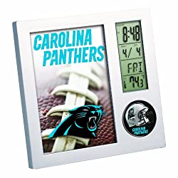 NFL Carolina Panthers Digital Desk Clock