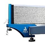 JOOLA Tischtennisnetz WX Aluminium Tischtennisnetz-Garnitur für Indoor / Outdoor Tischtennisplatten | Verstärkter Baumwollgarn mit Höhenverstellschraube Blau eloxiert 183 cm x 15,25 cm