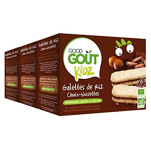 Good Goût Kidz - BIO - Galettes de Riz Fourrées Choco Noisettes 6 x 20 g - Lot de 3