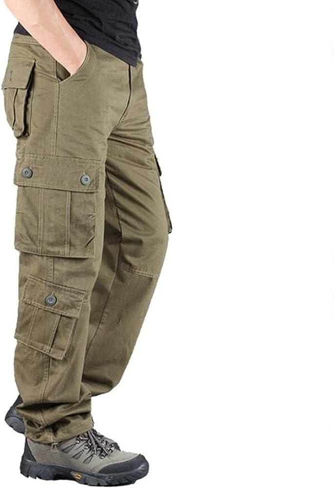 Eaeuuopy Men's Pants Fashion Pants Men's Camo Athlete Pants Cott