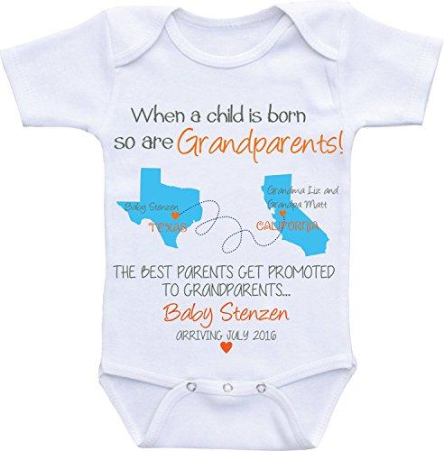 Promini Baby Onesie Los Mejores Padres Obtener Promocionado a los Abuelos Body Bebé