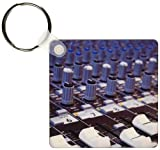 3dRose Audio Mixer Board Mixing Engineer Knobs Sliders Slider Buttons Studio Recording Keyring, 6 cm, Varies