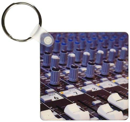 3dRose Audio Mixer Board Mixing Engineer Knöpfe Slider Buttons Studio Recording Keyring, 6 cm, variiert