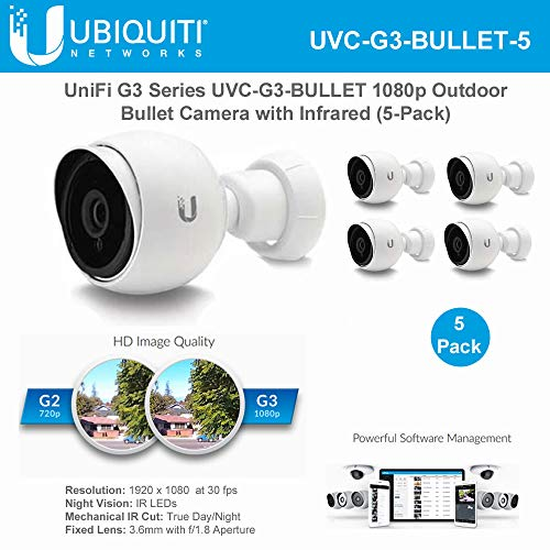 Great Price! Unifi Bullet Camera G3 Series UVC-G3-BULLET-5 1080p Outdoor IP Bullet Camera with Infra...