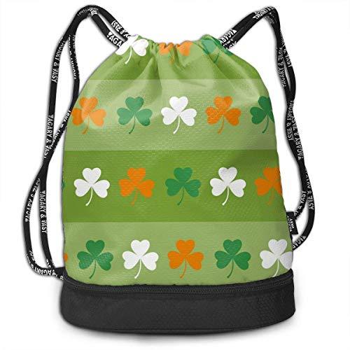 OKIJH Saint Patricks Day Men and Women General Backpack Multifunctional Bundle Backpack Fashion Travel Backpack Drawstring Backpack