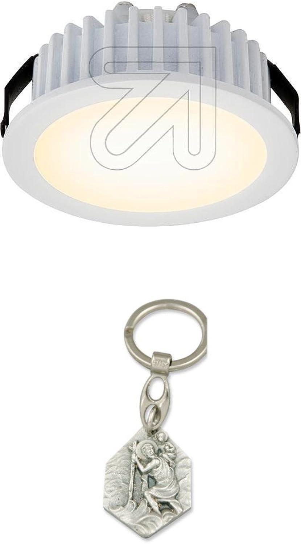 LED Einbauleuchte rund wei 3000K P02450 mit Anhnger Hlg. Christophorus