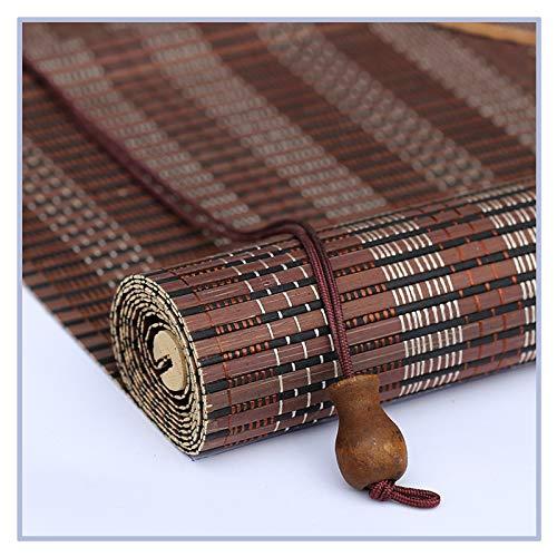 Pengfei - Estor enrollable de bambú, protección UV, protección contra el polvo, fácil de montar, color A, tamaño: 120 x 200 cm