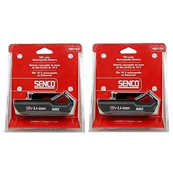 Senco VB0155 18v 1.5Ah Lithium-ion Battery 2PK New for Fusion & DuraSpin Tools