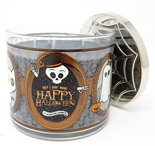 Bath & Body Works Happy Halloween 2017 Sweet Cinnamon Pumpkin Candle 3 Wick 14.5 Ounce