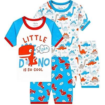 Amazon - 60% Off on Children Pajamas Cotton Dinosaur Kids Clothes Boys Cartoon Sleepwear