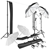Best Continuous Lighting Kits - HYJ-INC Photography Umbrella Continuous Lighting Kit,Muslin Backdrop Kit Review