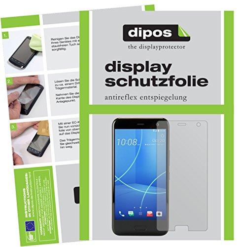 dipos I 2X Schutzfolie matt kompatibel mit HTC U11 Life Folie Displayschutzfolie