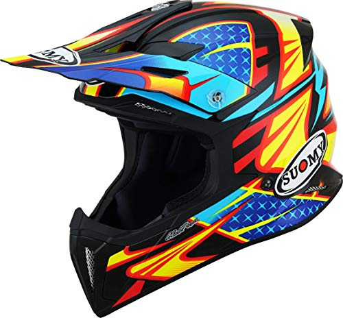 Suomy X-Wing Duel Motocross Helm Schwarz/Gelb S (55/56)