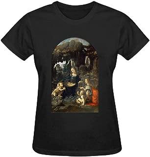 Claude-Carroll Virgin Mary Window Painting Womens Cotton T-Shirts Fashion Graphic Print Tee