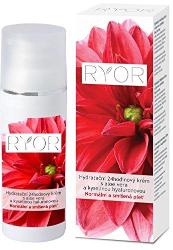 Ryor 24-Stunden-Feuchtigkeitscreme mit Hyaluronsäure und Aloe vera 50 ml