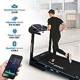 AKONZA 2.5 Peak HP Treadmill Training Foldable Equipment 15.8' Wide Belt 3 Manual Incline Timer LCD Display Fitness