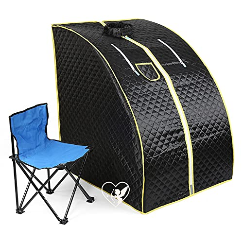 Sauna infrarouge pliable cabine à chaleur Thérapeutique Spa 1200W - Noir