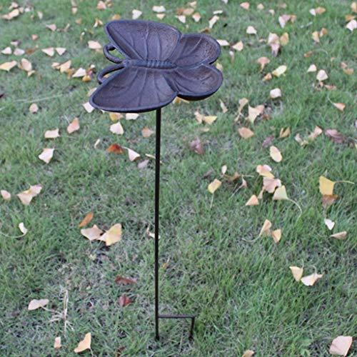 CKH Vintage Vlinder Shell Vogelvoederhuis Tuin Villa Binnenplaats Gietijzeren Vleugel Vogel Voedsel Bowl Tuin Decoratie Decoratie Bloem invoegen