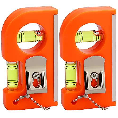 TANCUDER 2 Stück Mini Wasserwaage Magnetische Wasserwaage Stoßfeste Wasserwaage Magnetisch Taschenwasserwaage Mini Torpedo Levels für Bilderrahmen, Gemälden, Postern, verschiedenen Rahmen, Möbeln