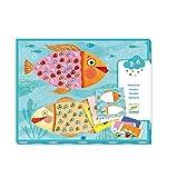 Djeco Collage Perles (38930), Multicolore (1)
