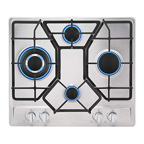 Empava 24' Stainless 4 Italy Sabaf Burners Stove Top Gas Cooktop EMPV-24GC4B67A