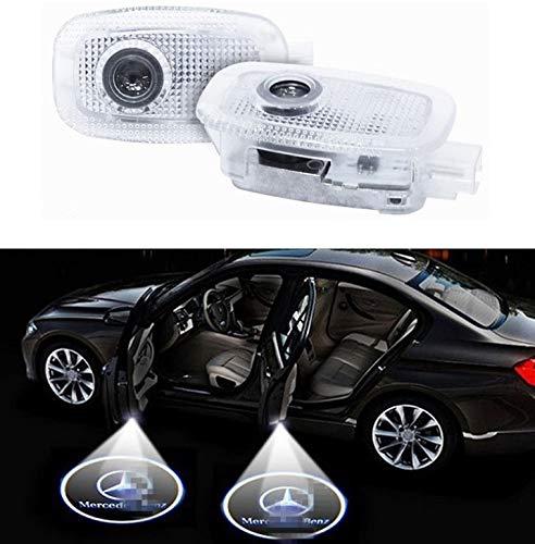 Preisvergleich Produktbild Sunshine Fly 2 Stück LED Autotür Laser Projektor Türbeleuchtung Logo Beleuchtung KFZ Türen Einstiegsbeleuchtung Door Willkommen Projektion Tuerlicht 3D Emblem Dekoration