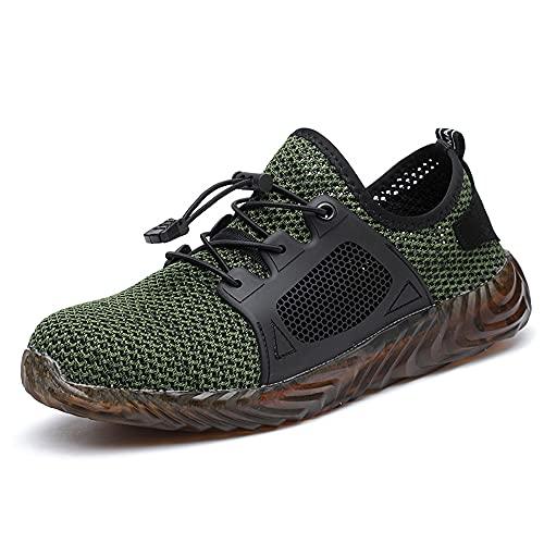 Zapatos de Seguridad Hombre, Zapatos de Trabajo Hombres Ligeros, Puntera de Acero Zapatos de Seguridad, Anti-presión y Anti-pinchazos