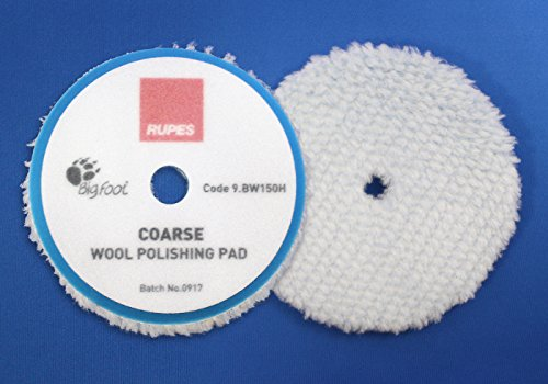 2 Stück Rupes Bigfoot Blaue Woll Pads Grob/Coarse 130/150mm für Mille LK900