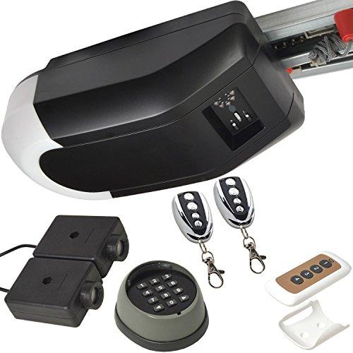 Kit pour porte de garage basculante ou porte sectionnelle - jusqu'à 12m²/max + capteurs Infrarouge + clavier numérique et télécommande