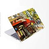 SDH Funda para MacBook Pro de 16 pulgadas 2019 lanzamiento A2141,funda de ordenador portátil y cubierta de teclado para Mac Pro 16 pulgadas Retina Touch Bar e ID 4 en 1 paquete, pintura ciudad 7