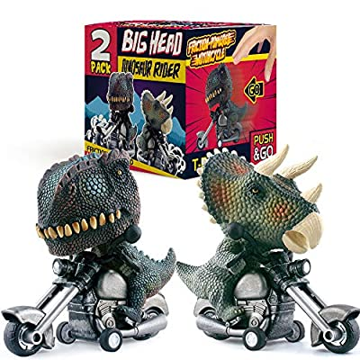 DINOBROS Friction Powered Toy Cars 2 Pack Motorcycle Game Toys for 3 Year Old Boys from DINOBROS