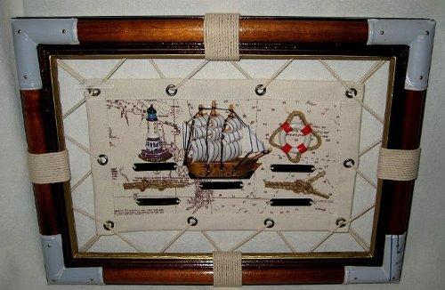 maritime-deco TOP- Knotentafel- Gespanntes Segeltuch- Seekarte