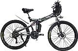 Bicicleta Eléctrica Bicicleta eléctrica Ebikes Folding Ebike para adultos, 26 pulgadas de bicicleta de montaña eléctrica Ciudad E-bicicleta, bicicleta ligera para adolescentes Hombres Mujeres Batería