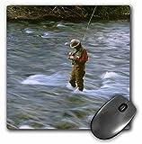 3dRose LLC 8 x 8 x 0.25 Inches Mouse Pad, Fly Fishing Rock Creek, Chuck Haney (mp_91765_1)
