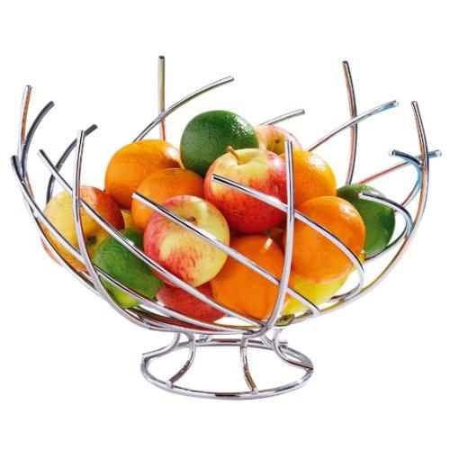 Premier Housewares 0509291 Cesto di Frutta, Forma di Nido Cromato