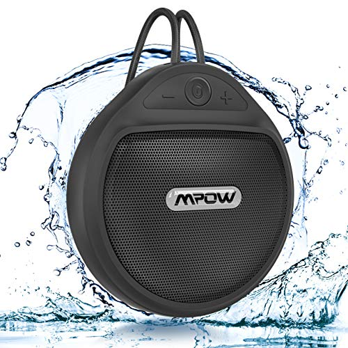 Bluetooth Shower Speaker, Mpow Q5 Waterproof Speaker IPX7 with 10H Playtime, Deep Bass Speaker, TWS/Built in Mic, Portable Outdoor Speaker with Suction Cup & Sturdy Hook for Home Outdoors Travel