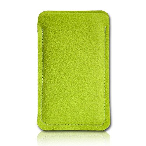sw-mobile-shop Filz Style Wiko Riff Premium Filz Handy Tasche Hülle Etui passgenau für Wiko Riff - Farbe hellgrün