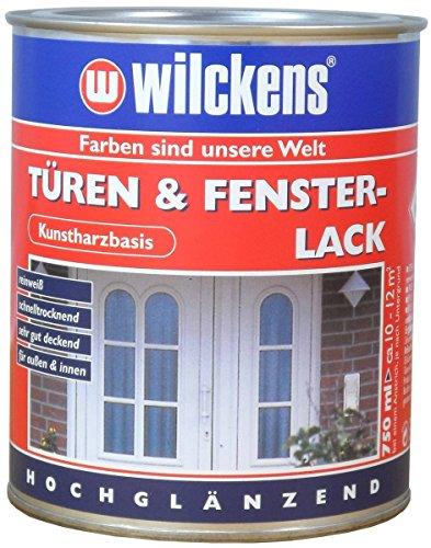 Türen und Fensterlack weiss inkl. Pinsel von E-Com24 zum Auftragen (375 ml weiss)