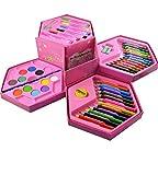 HK Toys Multicolour Art Box with Colour Pencil, Crayons, Water Colour, Sketch Pens