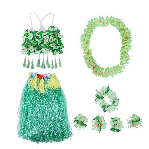 AUNMAS 8 stks/set volwassen dragen Hawaiian Grass Rok Dans Kleding Set voor Strand Party Zomer vrouwen Kostuums Set Party Favors