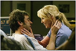 Grey's Anatomy Jeffrey Dean Morgan Emotionally Embracing a Smiling Katherine Heigl from his Hospital Bed 8 x 10 Photo
