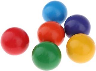 虹色トンネル ボール 球 玩具 木 木製ボール 幼児 子供 おもちゃ 全6個