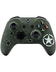 eXtremeRate Carcasa para Xbox One Funda Delantera Carcasa Frontal Kit de reemplazo Tacto Suave Placa Frontal para Mando Controlador de Xbox One X Xbox One S-Modelo 1708(Verde Oscuro)