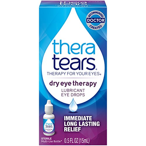 TheraTears Eye Drops for Dry Eyes, Dry Eye Therapy Lubricant Eyedrops, Provides Long Lasting Relief, 15 mL, 0.5 Fl Oz (Pack of 1)