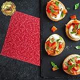 GRUBly Servietten ROT | Stoffähnlich [50 Stück] | Hochwertige rote Servietten, Tischdekoration für Weihnachten, Hochzeit, Geburtstag, Feiern | 40x40cm | AIRLAID QUALITÄT - 2