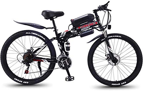 Ebikes Fast Electric Bikes for Adults Folding Electric Mountain Bike, 350W Snow Bikes, Removable 36V 8AH Lithium-Ion Battery for, Adult Premium Full Suspension 26 Inch Electric Bicycle ZDWN