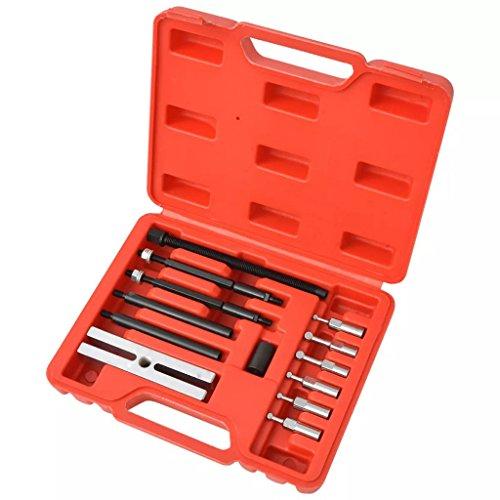 Luckyfu Petit Kit d'extraction pour roulements 19 pièces Accessoires pour véhicules boîte à Outils du véhicule de réparation du véhicule