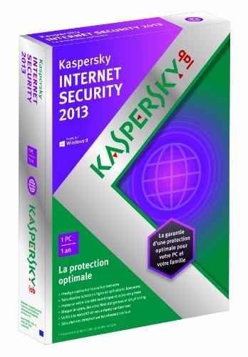 Kaspersky internet security 2013 (1 poste, 1 an)