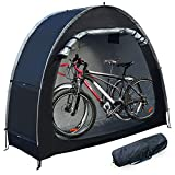 MAIZOA Outdoor Bike Covers Storage Shed Tent,210D Oxford Thick Waterproof Fabric,Outdoor Aluminum Alloy Bracket Bicycle Storage shed, Neat Tent Bicycle Cover, Storage of 2 Bicycles or tricycles